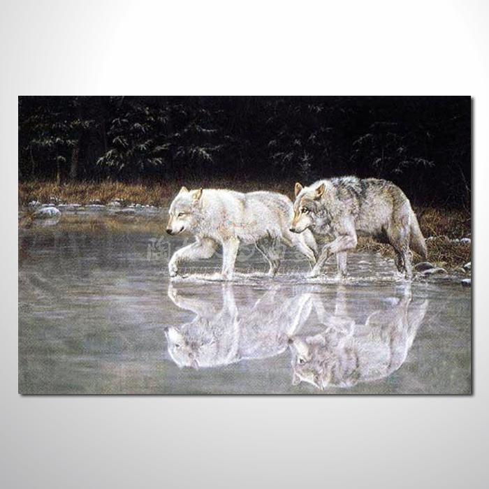 精緻動物 狼參考圖66 ☆本村提供客製化臨摹畫創作純手繪圖畫 , 歡迎各行業選購!