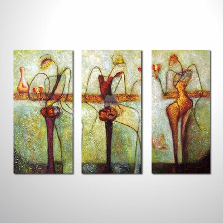 精緻3拼抽象01 參考圖☆本村的臨摹畫作皆一筆一劃辛苦純手繪而成 , 非複印品。