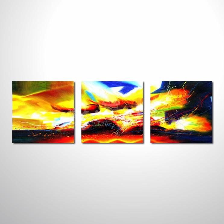 精緻3拼抽象25 參考圖☆本村提供客製化臨摹、風水開運招財等創作純手繪圖畫 , 名家推薦 , 歡迎選購!