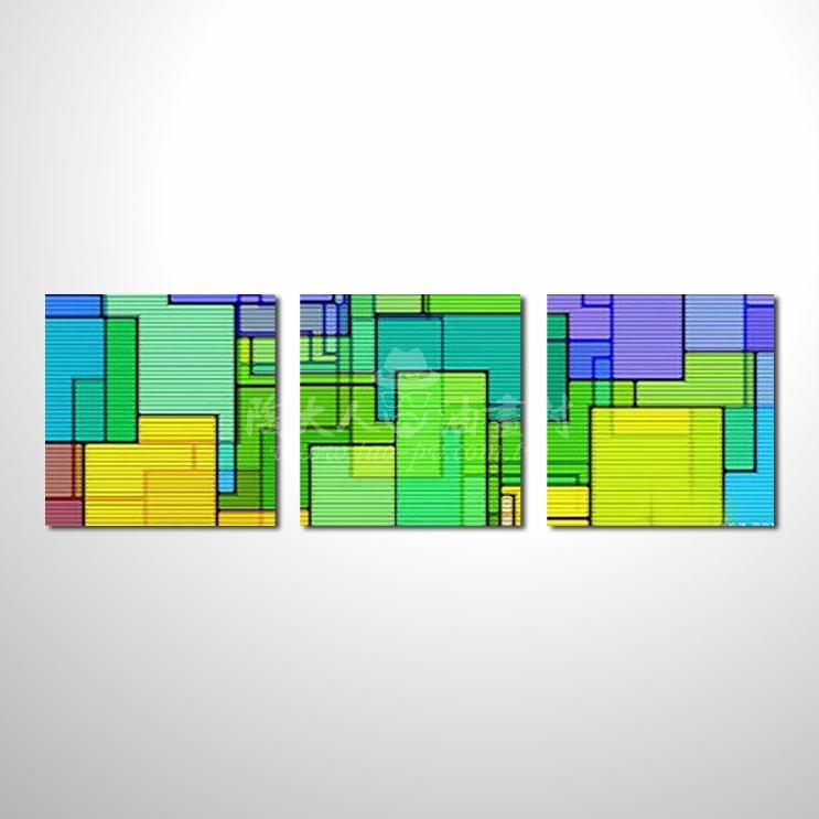 精緻3拼抽象41 參考圖☆本村提供客製化臨摹、風水開運招財等創作純手繪圖畫 , 名家推薦 , 歡迎選購!