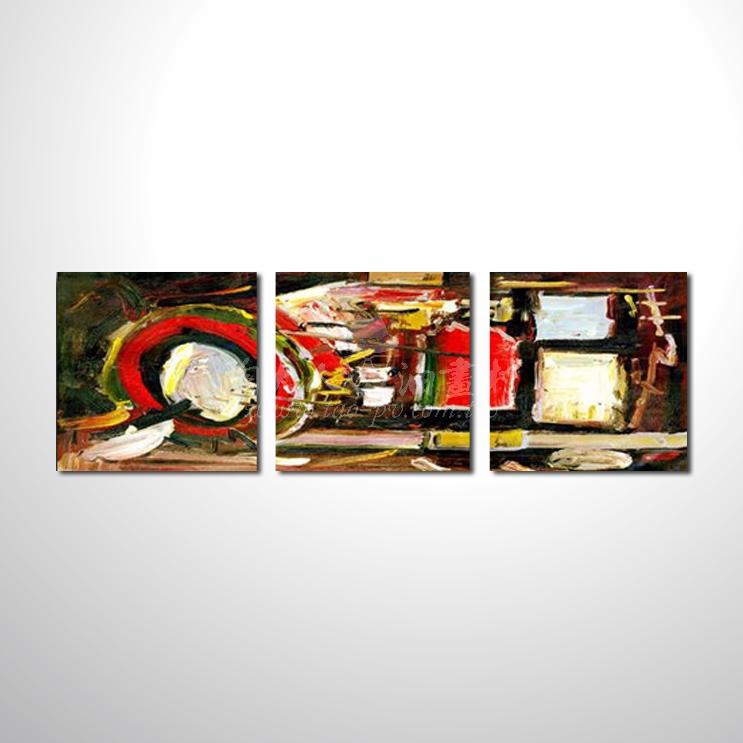 精緻3拼抽象57 參考圖☆本村提供客製化臨摹、風水開運招財等創作純手繪圖畫 , 名家推薦 , 歡迎選購!