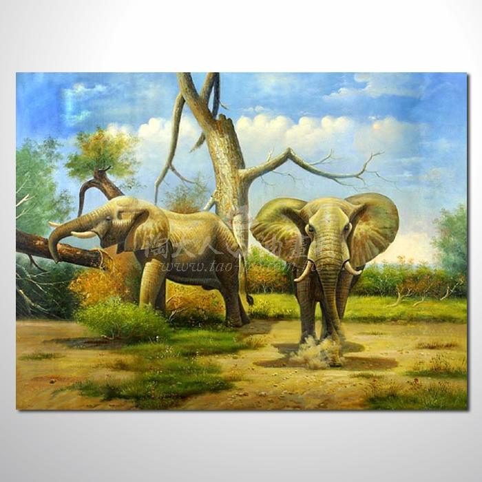 精緻動物 大象參考圖80 ☆名家推薦、提供客製化臨摹、風水開運招財等創作純手繪 , 適居家百業 , 物美價廉 , 可量身訂做 , 畫一張有人生意義的故事畫!