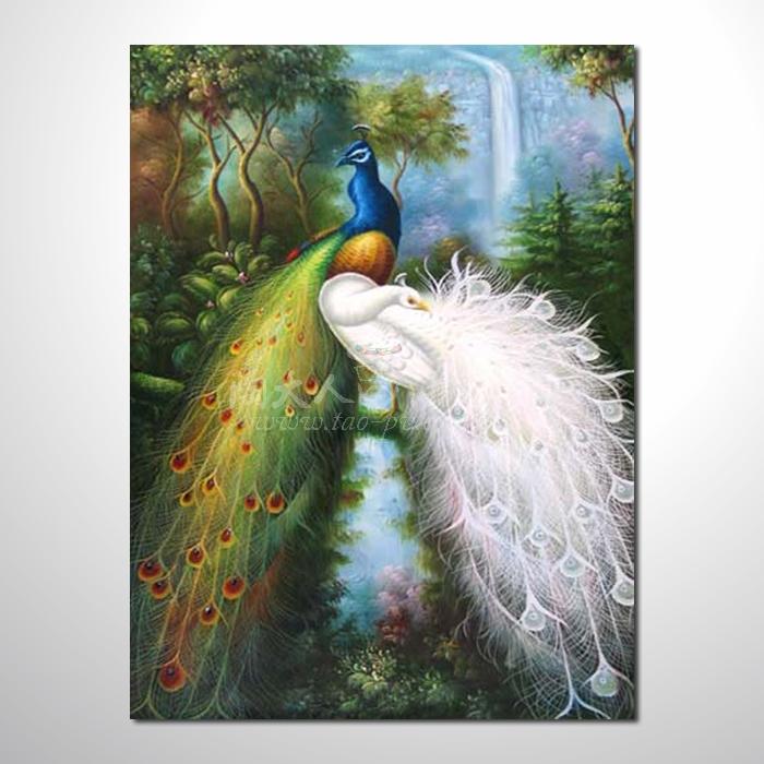 精緻動物 孔雀參考圖103 ☆本村提供客製化臨摹畫創作純手繪圖畫 , 歡迎各行業選購!