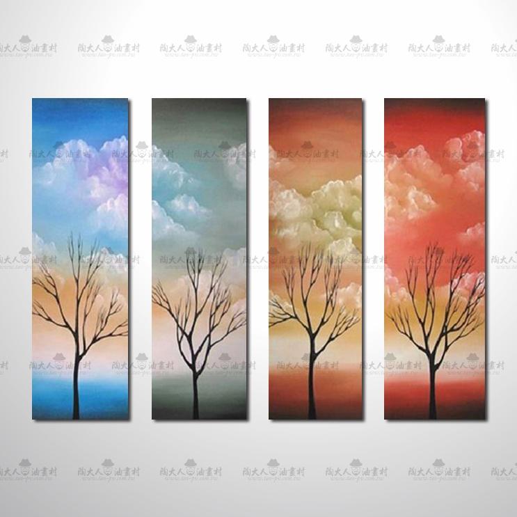 精緻4拼風景40參考圖  ☆純手繪、陶大人油畫村, 客製畫的服務 , 為您量身製作您想要的圖面與尺寸 !