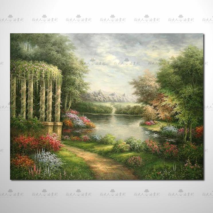 托馬斯花園參考圖 06 純手繪 ☆希望在我們的油畫村裡能讓您陶然自得!