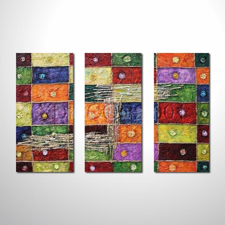精緻3拼抽象85 參考圖☆名家推薦、本村提供客製化臨摹、風水開運招財等創作純手繪圖畫 , 萬種油畫 , 種類齊全 , 適居家百業 , 物美價廉 , 可量身訂做!
