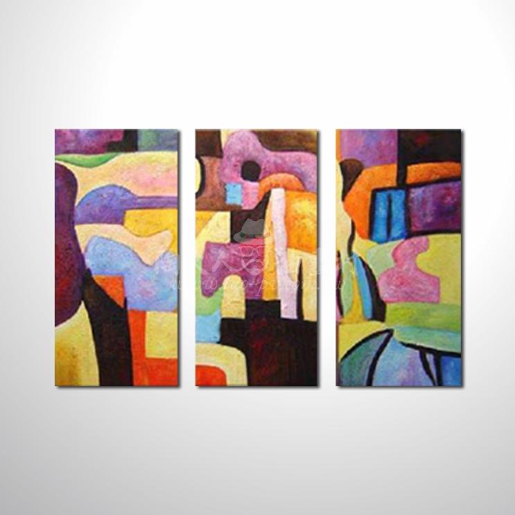 精緻3拼抽象95 參考圖☆名家推薦、本村提供客製化臨摹、風水開運招財等創作純手繪圖畫 , 萬種油畫 , 種類齊全 , 適居家百業 , 物美價廉 , 可量身訂做!