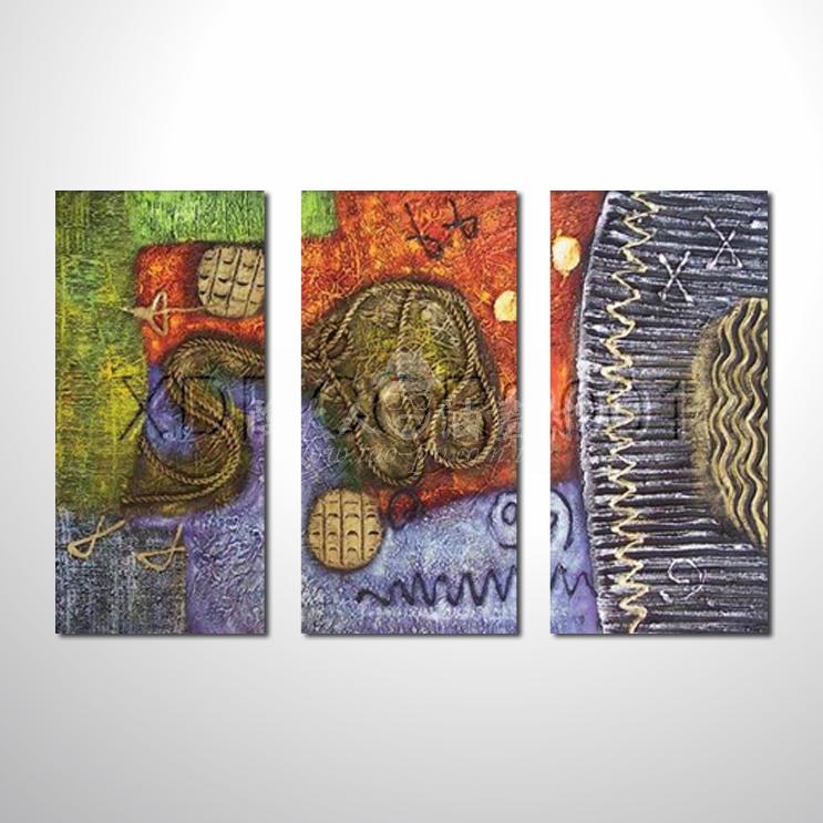 精緻3拼抽象101 參考圖☆名家推薦、本村提供客製化臨摹、風水開運招財等創作純手繪圖畫 , 萬種油畫 , 種類齊全 , 適居家百業 , 物美價廉 , 可量身訂做!