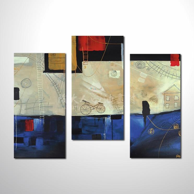 精緻3拼抽象111 參考圖☆名家推薦、本村提供客製化臨摹、風水開運招財等創作純手繪圖畫 , 萬種油畫 , 種類齊全 , 適居家百業 , 物美價廉 , 可量身訂做!