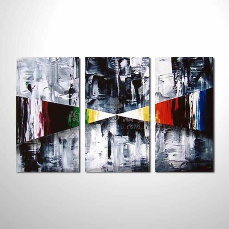 精緻3拼抽象122 參考圖 純手繪 ☆本村提供客製化臨摹畫創作純手繪圖畫 , 歡迎訂購!