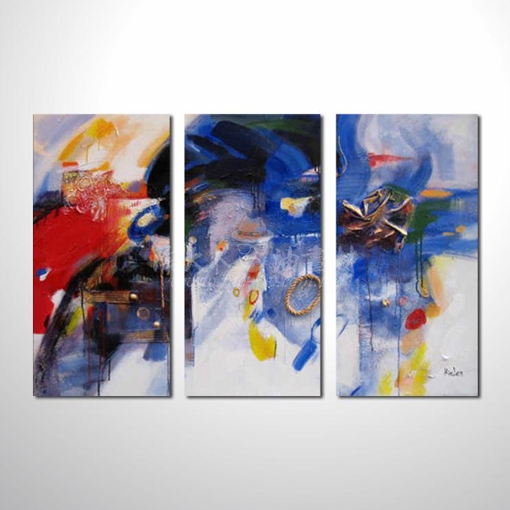 精緻3拼抽象124 參考圖 純手繪 ☆本村提供客製化臨摹畫創作純手繪圖畫 , 歡迎訂購!