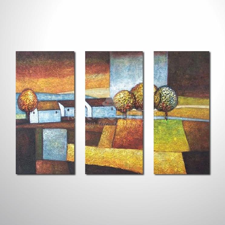 精緻3拼抽象126 參考圖 純手繪 ☆本村提供客製化臨摹畫創作純手繪圖畫 , 歡迎訂購!