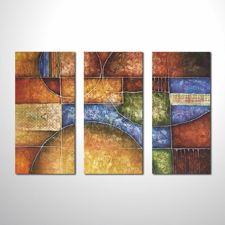 精緻3拼抽象127 參考圖☆名家推薦、本村提供客製化臨摹、風水開運招財等創作純手繪圖畫 , 萬種油畫 , 種類齊全 , 適居家百業 , 物美價廉 , 可量身訂做!