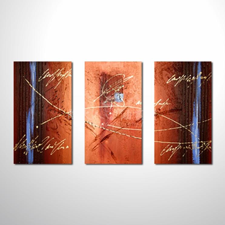 精緻3拼抽象141 參考圖☆名家推薦、本村提供客製化臨摹、風水開運招財等創作純手繪圖畫 , 萬種油畫 , 種類齊全 , 適居家百業 , 物美價廉 , 可量身訂做!
