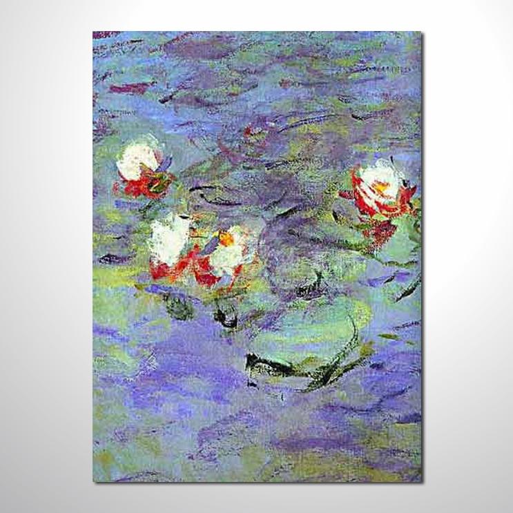 睡蓮荷花參考圖 34 純手繪 ☆希望在我們的油畫村裡能讓您陶然自得!