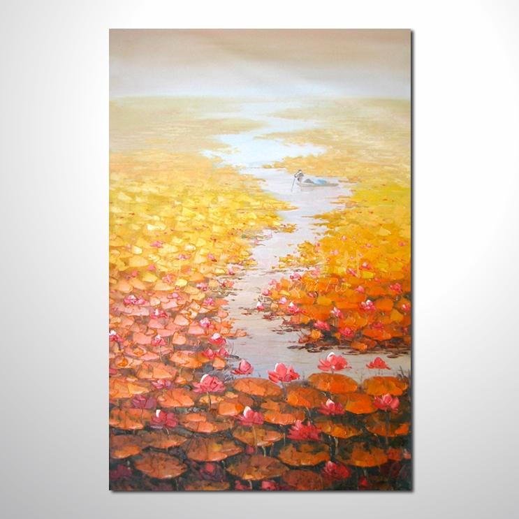 精彩荷塘之秋參考圖-豎21  純手繪 ☆畫一張有情趣、有人生色彩的故事畫!