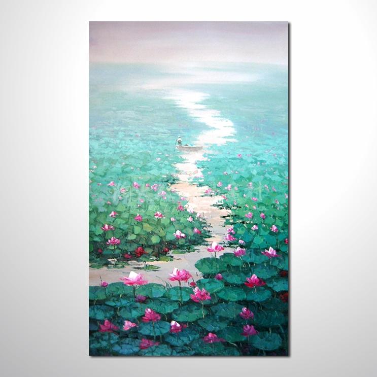 精彩荷塘之夏參考圖-豎19 純手繪 ☆畫一張有情趣、有人生色彩的故事畫!