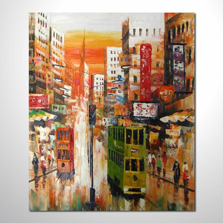 精彩香港夜景參考圖77 ☆本村提供客製化臨摹、風水開運招財等創作純手繪圖畫 , 歡迎選購!