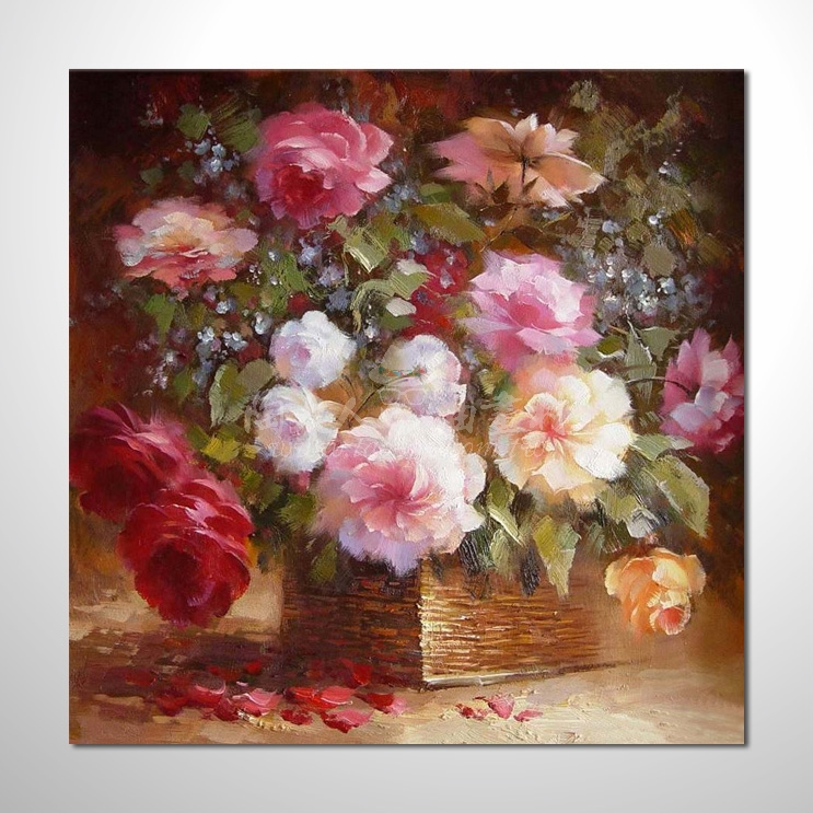 歐洲印象花卉參考圖 01 純手繪 ☆希望在我們的油畫村裡能讓您陶然自得!