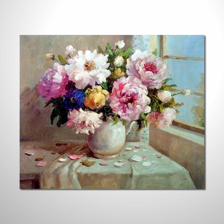 歐洲印象花卉參考圖 02 純手繪 ☆希望在我們的油畫村裡能讓您陶然自得!