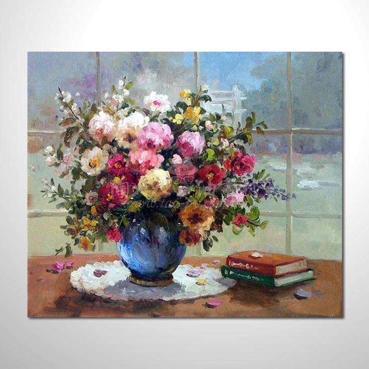歐洲印象花卉參考圖 03 純手繪 ☆希望在我們的油畫村裡能讓您陶然自得!