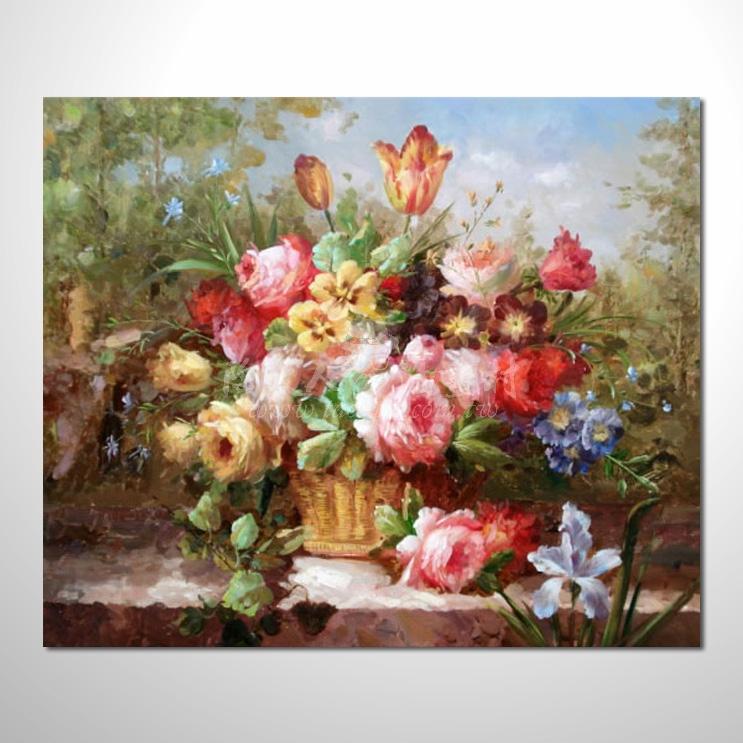 歐洲印象花卉參考圖 14 純手繪 ☆本村提供客製化臨摹畫創作純手繪圖畫 , 歡迎選購!