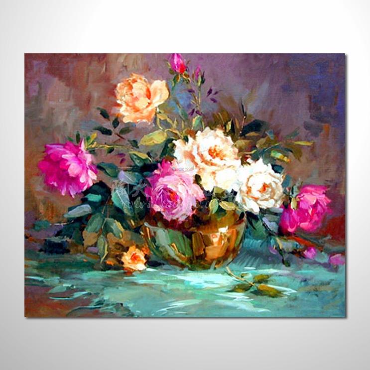 歐洲印象花卉參考圖 16 純手繪 ☆希望在我們的油畫村裡能讓您陶然自得!