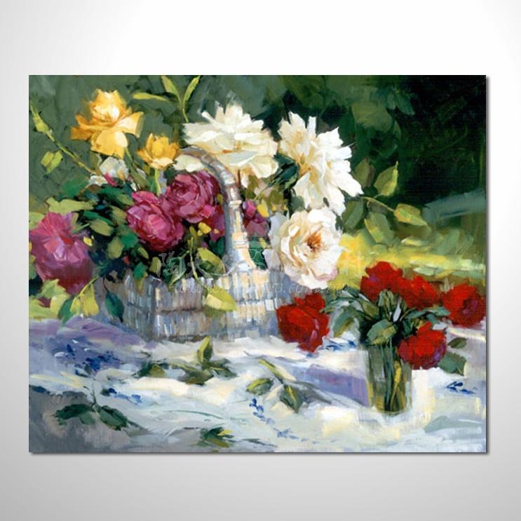 歐洲印象花卉參考圖 17 純手繪 ☆本村提供客製化臨摹畫創作純手繪圖畫 , 歡迎選購!