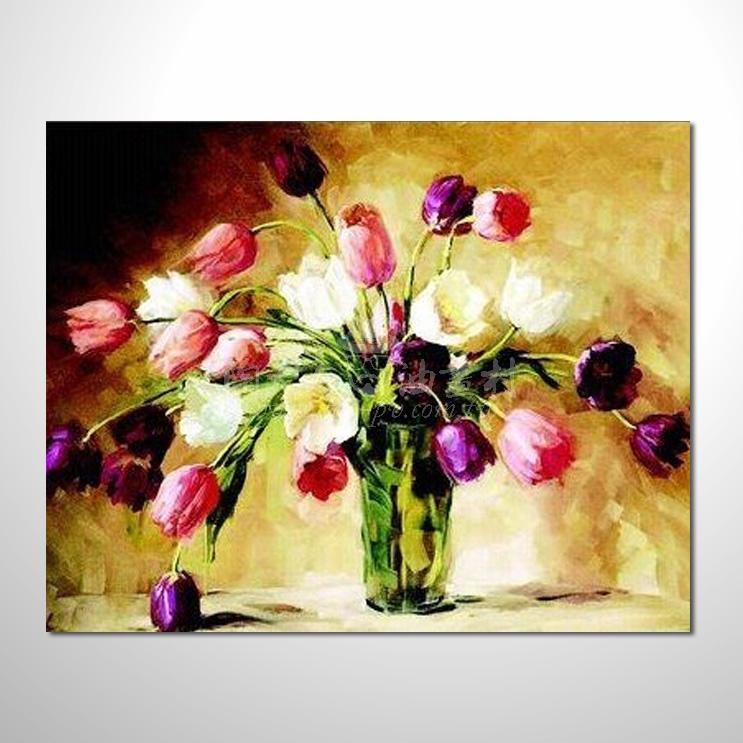 歐洲印象花卉參考圖 19 純手繪 ☆希望在我們的油畫村裡能讓您陶然自得!