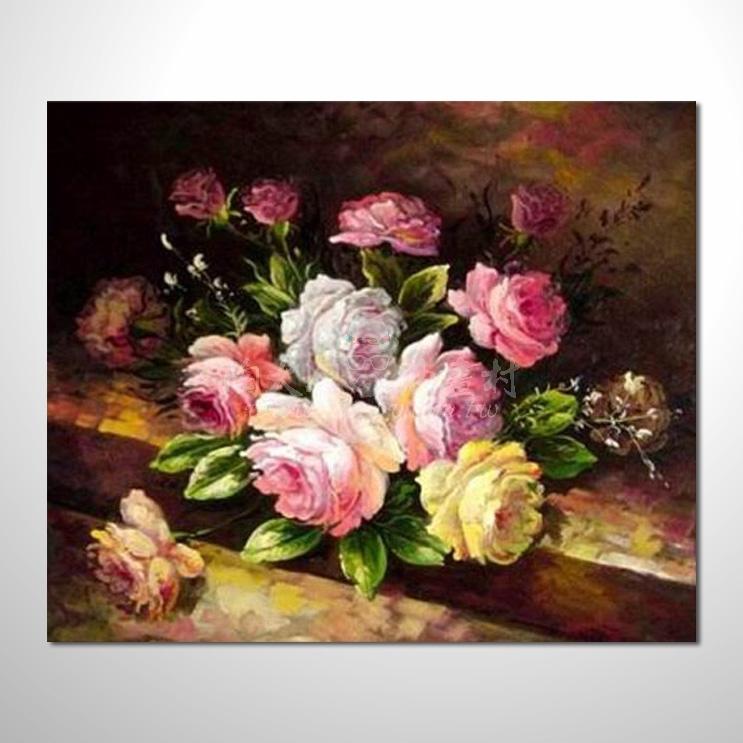 歐洲印象花卉參考圖 20 純手繪 ☆歡迎各行業大量訂製與長期配合。