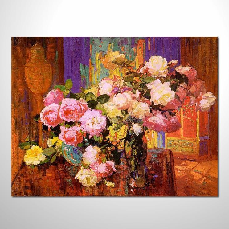 歐洲印象花卉參考圖 28 純手繪 ☆希望在我們的油畫村裡能讓您陶然自得!