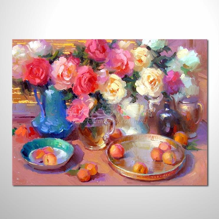 歐洲印象花卉參考圖 30 ☆本村的臨摹畫作皆一筆一劃辛苦純手繪而成 , 非複印品。