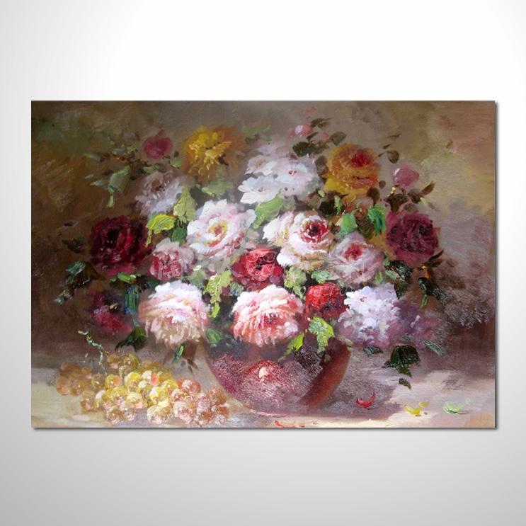 歐洲印象花卉參考圖 33 ☆本村的臨摹畫作皆一筆一劃辛苦純手繪而成 , 非複印品。