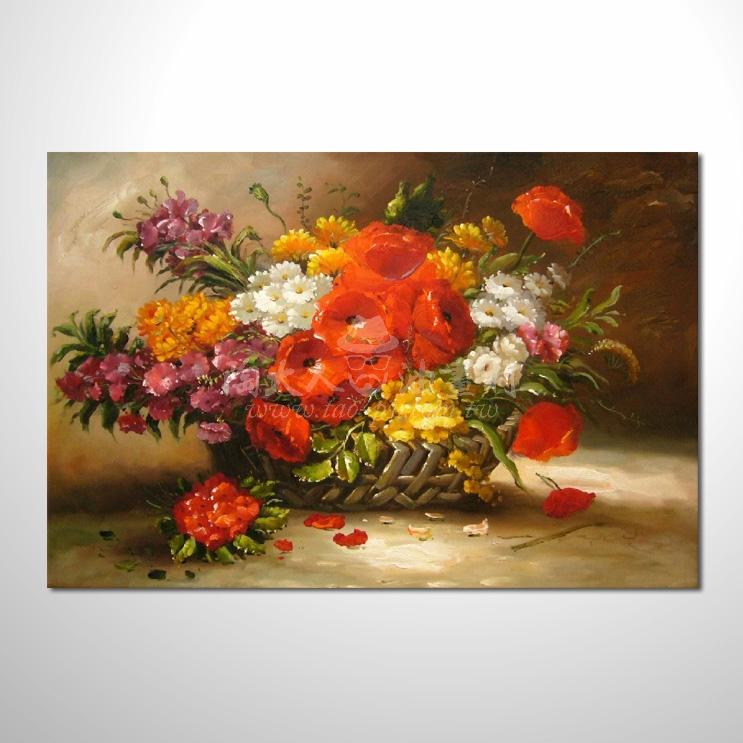 歐洲印象花卉參考圖 35 純手繪 ☆希望在我們的油畫村裡能讓您陶然自得!