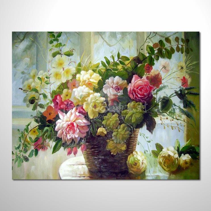 歐洲印象花卉參考圖 39 純手繪 ☆本村的臨摹畫作皆是一筆一劃辛苦手繪而成 , 而非複印品。