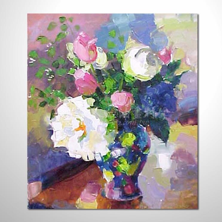 歐洲印象花卉參考圖 42 純手繪 ☆希望在我們的油畫村裡能讓您陶然自得!