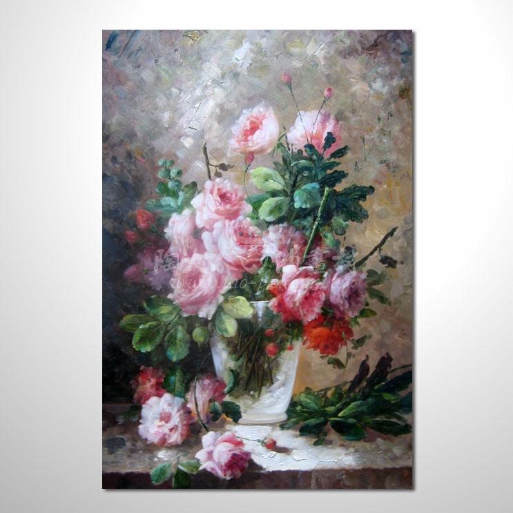 歐洲印象花卉參考圖 67 純手繪 ☆本村提供客製化臨摹畫創作純手繪圖畫 , 歡迎訂購!